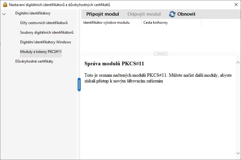 Adobe Reader – správa modulů PKCS11